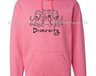 Dachshund Hoodie Sweatshirt Diversity