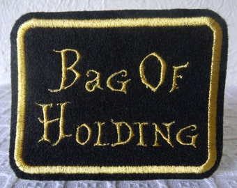 Iron On Patch - Patches - Embroidered Applique - Embroidered Patches - Applique Patch - Seamstress Gift - Bag Of Holding - Geekery - Nerdry