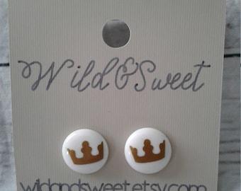 Simple Crown Earrings