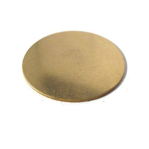 1 Gold Stamping Disc Charm, Brass, Round 45mm Blank Disc, Flat Shiny Charm for Making Jewelry, Jewelry Supplies
