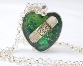 Green Mended Heart, Organ Donation, Green Awareness, Heart Transplant, Lung Transplant, Kidney Transplant, Surgery Recovery Gift