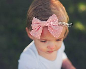 Newborn Headband | Baby Headband | Infant Bow | Baby Girl Bow Toddler Headband Baby Girl Headband | Nylon Headband | 3 Inch Bow | Fabric Bow