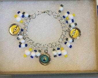 Kids Minions Charm Bracelet