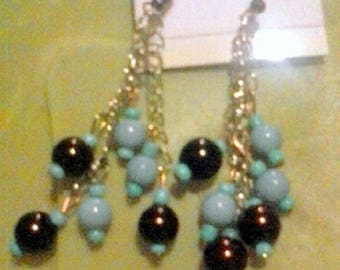 Beads and Blues Earrings