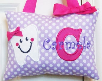 Tooth Fairy Pillow - Purple with White Dots