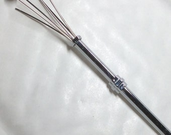 Swizzle stick retractable cocktail stick champagne  stirrer 1920s replica silver plated
