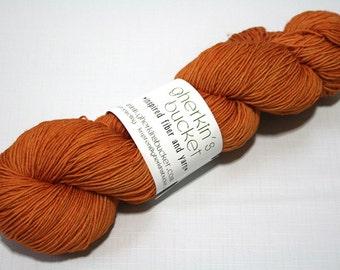 Hand Dyed Artisan Yarn, Tonal Kettle Dyed Sock Yarn, Semisolid SW Merino Wool Nylon Yarn, Quick Step Sock, Glad Hand #11717
