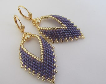 Russian Leaf Earrings - Purple/Grape