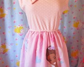 Barbie dress, African American plus size clothing fairy kei XL extra large sweet lolita