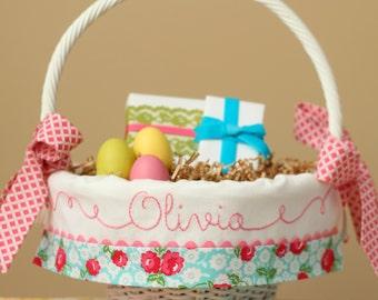 PRE-ORDER 2019 Easter Basket, Personalized Easter Basket, Girls Easter Basket, Easter Basket Liner fits Pottery Barn Kids Baskets