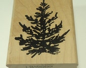 Evergreen PineTree Wood Mounted Rubber Stamp By Denami Designs