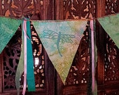 Gypsy Prayer Flags Dragonfly flags for peace prosperity and healing garland