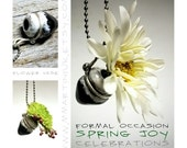 Tiny Bud Flower Vase Necklace Ceramics and Pottery Handmade Raku Jewelry
