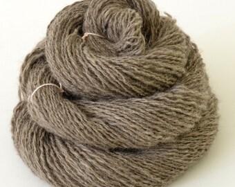 Handspun Yarn - Yak Down and Silk Yarn  - Russian Hand Spun Yarn - 1.1oz, 120yd, 18WPI, Sport