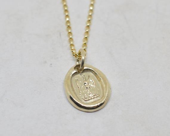 gold phoenix pendant