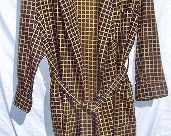 Vintage Roytex Robe Suave Cotton Rayon checked medium large