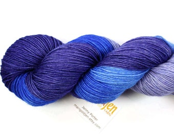 Twilight--hand dyed sock yarn, BFL and nylon, (464yds/100gm)