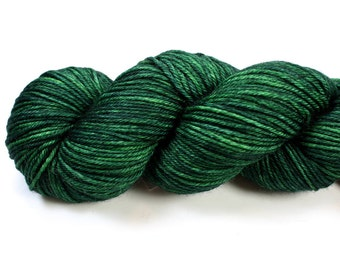 Alfalfa--hand dyed DK weight yarn, Superwash Merino (250yds/115gm)