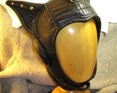 RESERVED for xDDx/ Zippy-Cat-Ear Aviator in Black Leather