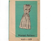 1960s Vintage Sewing Pattern Mail Order 9342 Misses Sleeveless Summer Dress Size 16 Half Bust 37 60s