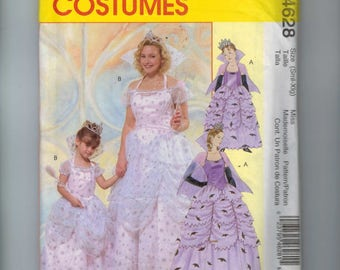 Misses Costume Sewing Pattern McCalls M4628 4628 Good Bad Witch Halloween Costume Cosplay Size 8 10 12 14 16 18 20 22 Bust 31-44 UNCUT