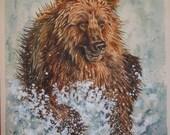 Brown Bear - Original Watercolour Painting