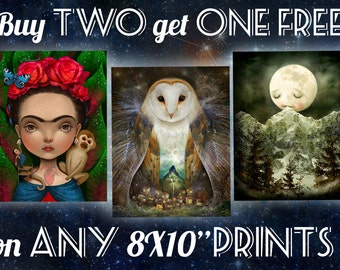 3 FOR 2 on ANY 8X10 prints | Pick two prints, get the third one FREE, pick your own design | gifts for coworkers, family | by Meluseena