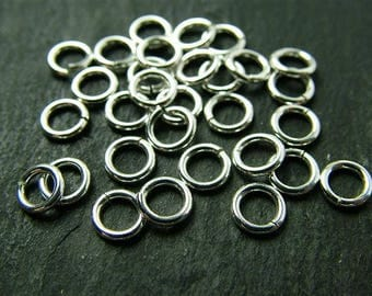 Sterling Silver Open Jump Ring 5mm ~ 18ga ~ Pack of 10 (CG2021a)