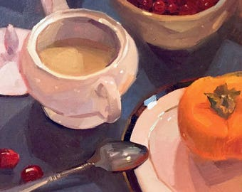 "Art painting still life by Sarah Sedwick ""Patti's Sugar Bowl"" 10x10"""