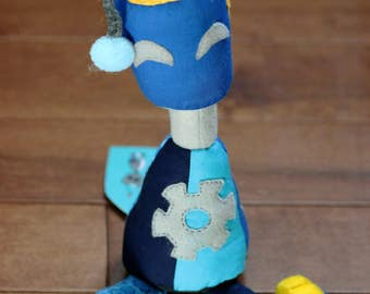 Blue Olio - Wee Plush Robot
