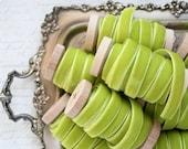 "Chartreuse Velvet Ribbon, 3 yards, Light Green Velvet Ribbon, 3/8"" Velvet Ribbon, Velvet Ribbon Spool, Chartreuse Wedding, Spring Green"