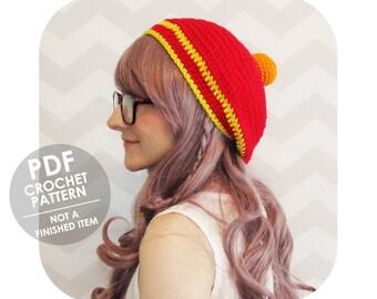 crochet hat pattern - modern trendy dbz inspired slouchy beanie - four star dragonball hat - anime costume halloween costume - slouchy hat