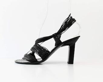 1990s Jil Sander Asymmetrical Avant Garde Sandals Pumps