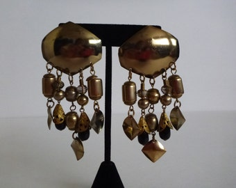 Bohemian assemblage earrings. chandelier earrings. Boho earrings.