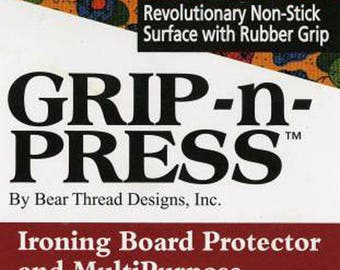 "Grip-n-Press 12.5"" x17"" - Reusable Non-Stick Pressing Sheet/Ironing Board Protector"