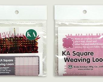 "Square Weaving Loom 4"" x 4"" by Kinki Amibari"
