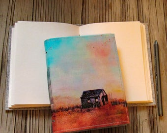 The Shack-  canvas cover journal of original shack painting Long Beach Island NJ - tremundo