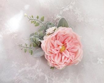 bridal headpiece, floral hair clip, flower hair clip, bridal hair clip, bridal hair piece, peony hair clip, floral hair clip, pink wedding