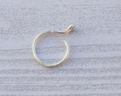 Sterling Silver Fake Nose Ring,  22 Gauge Nose Ring, Fake Nose Hoop, Clip On Nose Ring, No Piercing, Nose Cuff