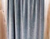 RESERVED FOR dg5253 - Long Coal Gray Velvet Maxi Skirt Vintage CP Shades Boho Classy Elegant Edwardian