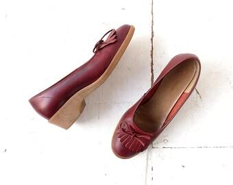Vintage Wedge Shoes | 1970s Shoes | Kiltie Platform Loafers | Size 7-7 1/2