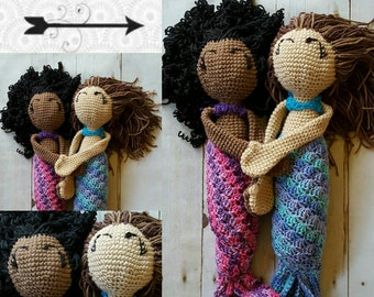 Mermaid Yourself! Crocheted Mermaid Doll Customized to look like you! Handmade in the USA Made to Order