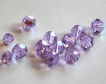Swarovski Violet AB 8mm 6mm 5000 Rounds Destashing SALE