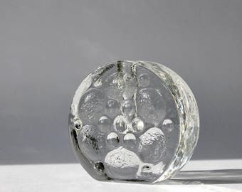 Mid-Century Walther Glas Bud Vase, West German Bubble Glass Vase, Heiner Dusterhaus Design, Scandinavian Modern Home, Gifts under 25