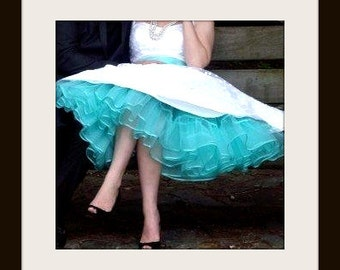 Miss Aggie Level 3 Petticoat ~ For your big day ~ Extra-full ruffled organza and satin petticoat tutu