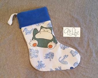 Pokemon Snorlax First Gen Generation Christmas Stocking