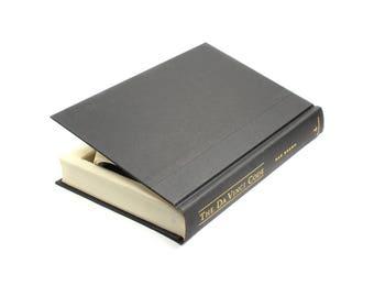 The Da Vinci Code Handmade Hollow Book Box Black Medium Hand Cut Black Groomsmen Birthday Groomsmen Gift Best Man Black - READY TO SHIP