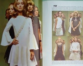 Vintage Vogue Pattern Book International Summer 1970 - 70s Sewing Patterns Catalog Magazine - 60s 70s fashions - dresses beach wear caftans