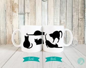 Halloween Black Cat Mug, Black Kitty Halloween Mug, Kitty Mug, Cute Cat Mugs, Crazy Cat Lady Mug, Cat Lover Mug, Cat Lover Gift Mug, 11 oz