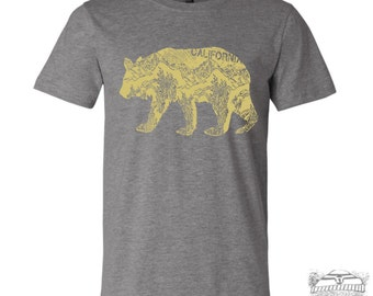 Mens California BEAR T Shirt s m l xl xxl (++ Color Options)